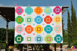 cross tile quilt variation - skalabara quilts