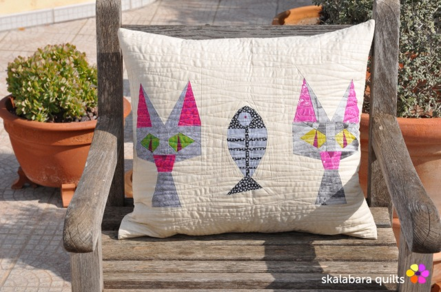 cusion cover candy cat 1 - skalabara quilts