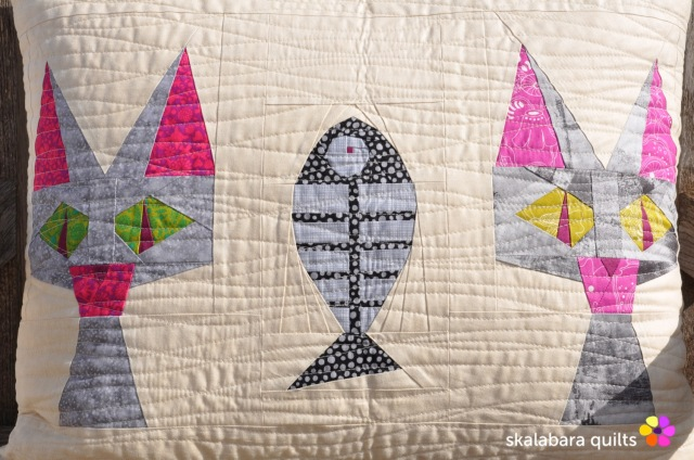 cusion cover candy cat 2 - skalabara quilts
