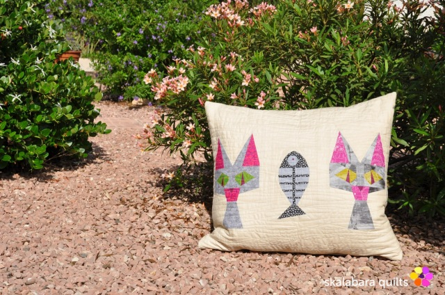 cusion cover candy cat 3 - skalabara quilts