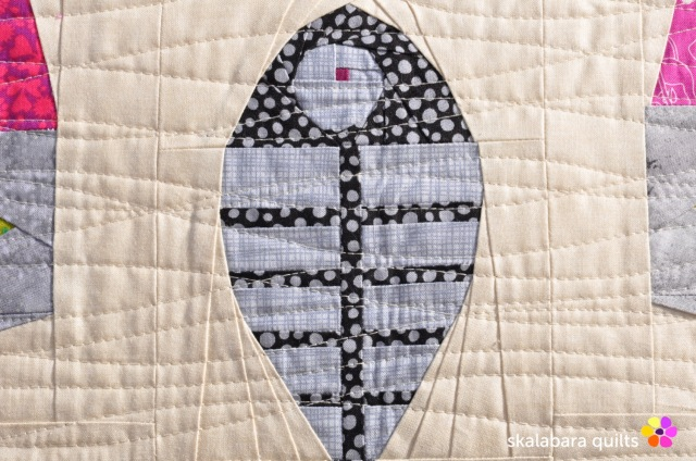 cusion cover candy cat detail 2 - skalabara quilts