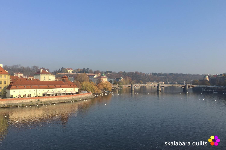 river vltava from charles bridge - skalabara quilts