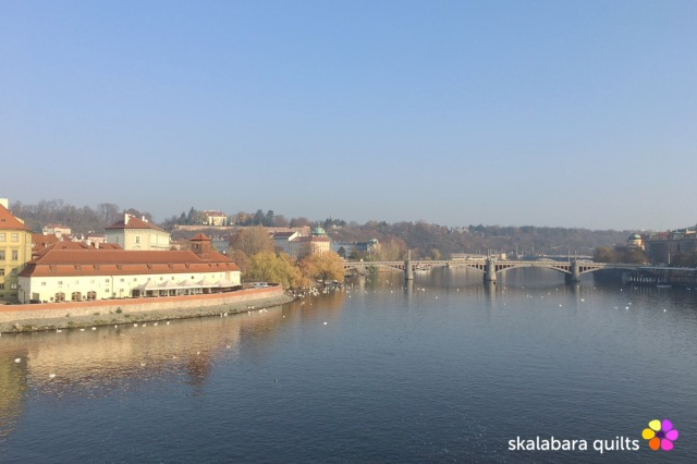 river vltava from charles bridge - skalabara quilts