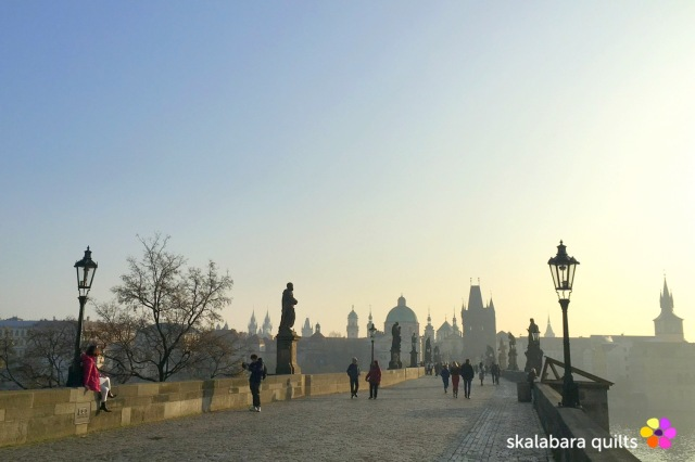 charles bridge by sunrise - skalabara quilts