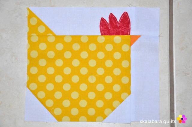 wip - chicken quilt throw 2 - skalabara quilts