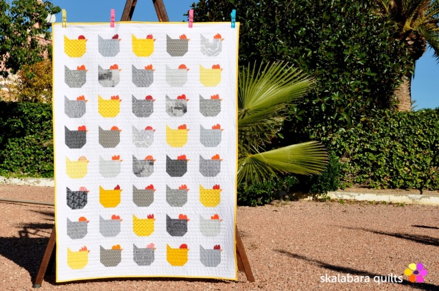 chicken quilt 1 - skalabara quilts