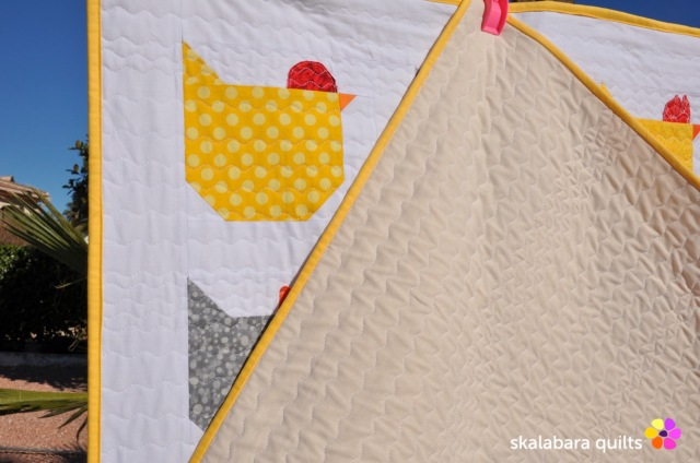 chicken quilt back 2 - skalabara quilts