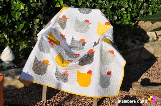chicken quilt chair - skalabara quilts