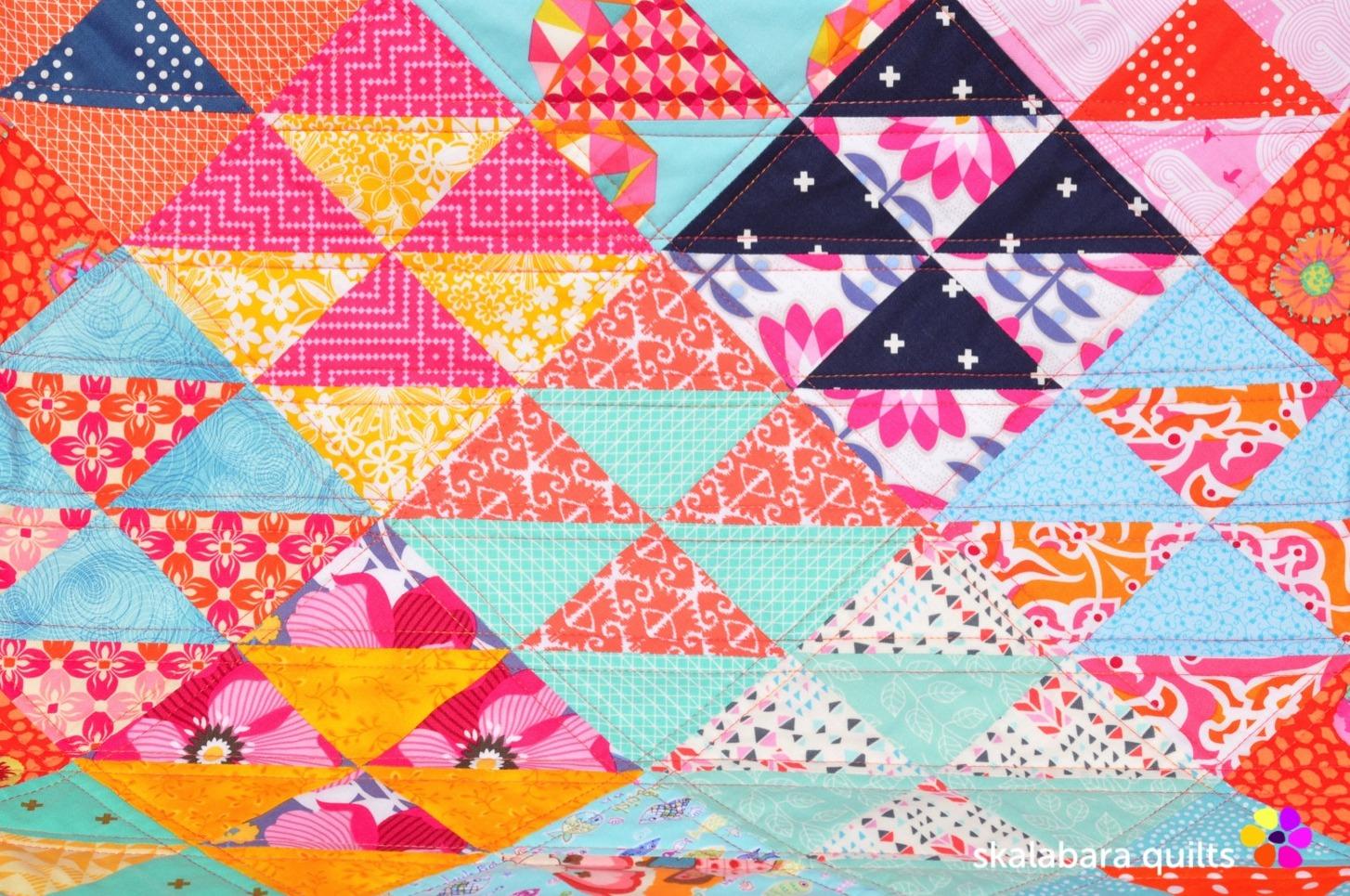 chair cover quilt detail 1 - skalabara quilts