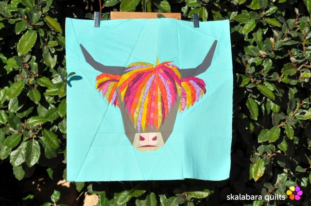 fpp highland cow 1 - skalabara quilts