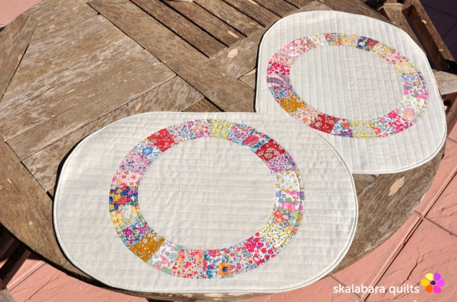 liberty wheel placemats 2 - skalabara quilts