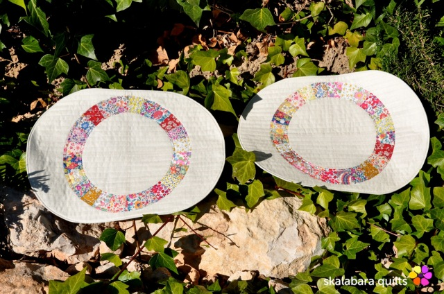 liberty wheel placemats 5 - skalabara quilts