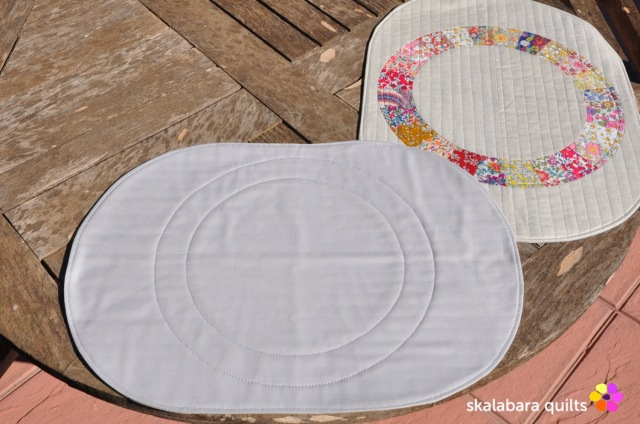 liberty wheel placemats back - skalabara quilts