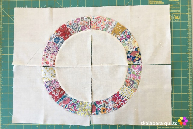 liberty wheel placemats piecing 6 - skalabara quilts