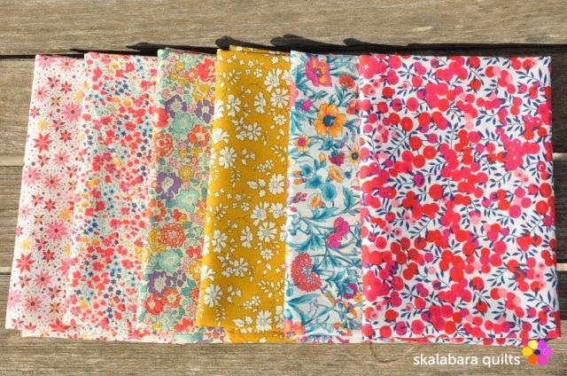 liberty london fabric fq rachel collection - skalabara quilts