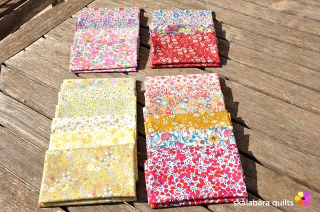 liberty london fabric fat quarters - skalabara quilts