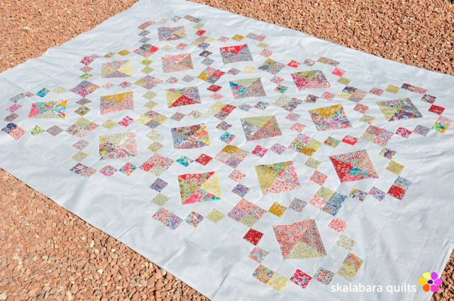 levitating liberty jewel box quilt 2 - skalabara quilts