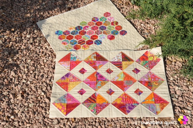 hst and hexie cushion cover 1 - skalabara quilts