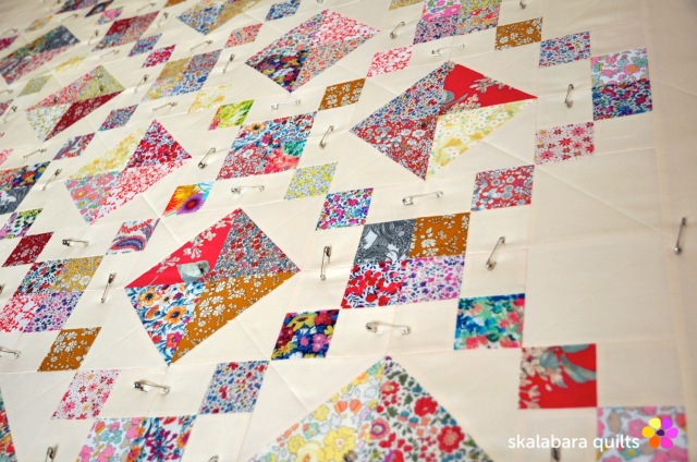 levitating liberty jewel box eggshell quilt 1 - skalabara quilts