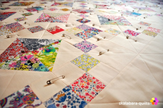 levitating liberty jewel box eggshell quilt 2 - skalabara quilts