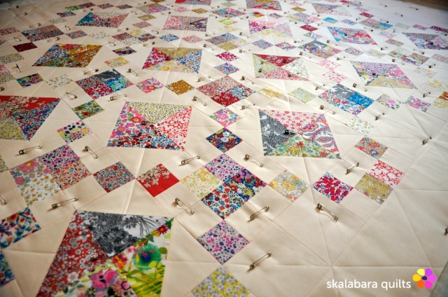 levitating liberty jewel box eggshell quilt 3 - skalabara quilts