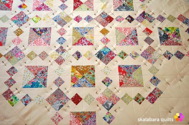 levitating liberty jewel box eggshell quilt 5 - skalabara quilts
