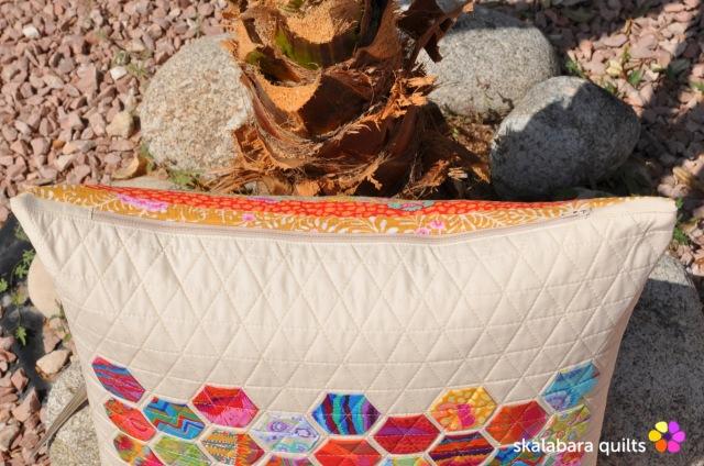 cushion cover log cabin with kaffe fassett fabrics 10 - skalabara quilts