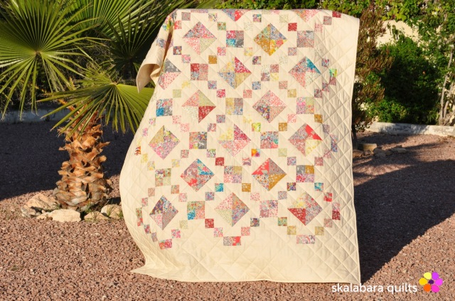 levitating liberty jewel box eggshell quilt 11 - skalabara quilts