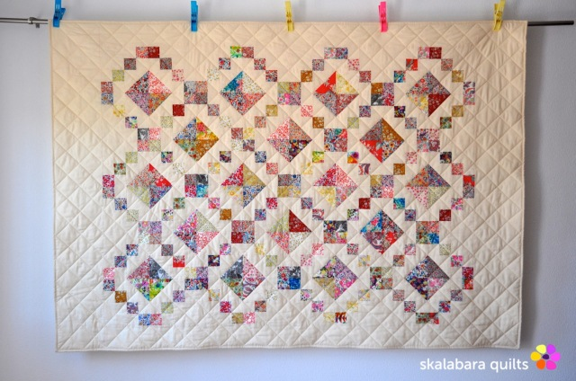levitating liberty jewel box eggshell quilt 12 - skalabara quilts