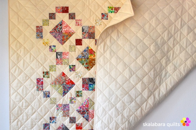 levitating liberty jewel box eggshell quilt 14 - skalabara quilts