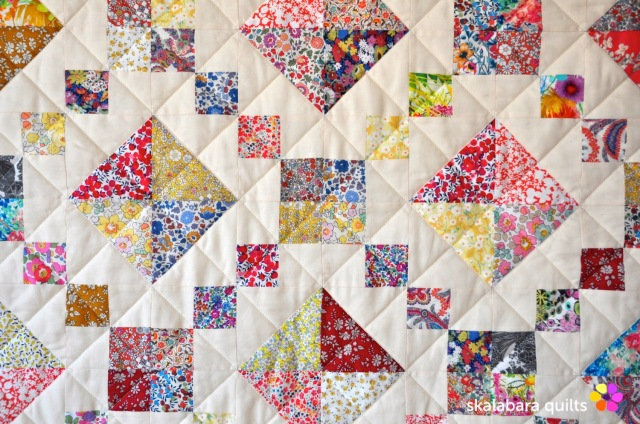 levitating liberty jewel box eggshell quilt 15 - skalabara quilts