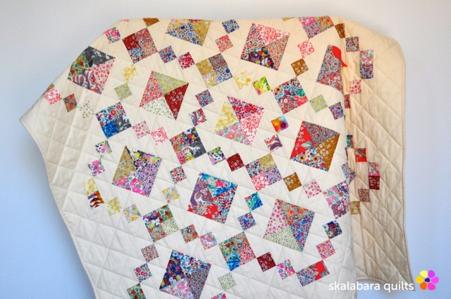 levitating liberty jewel box eggshell quilt 16 - skalabara quilts