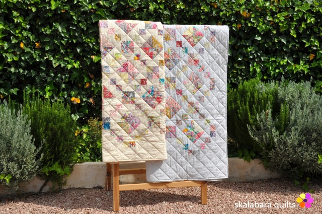 levitating liberty jewel box silver eggshell quilt 20 - skalabara quilts