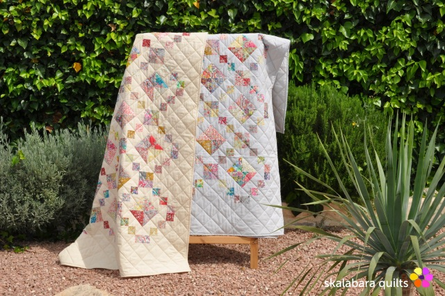 levitating liberty jewel box silver eggshell quilt 21 - skalabara quilts