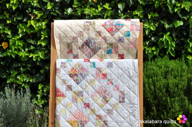 levitating liberty jewel box silver eggshell quilt 22 - skalabara quilts