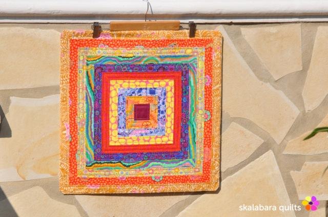 cushion cover log cabin with kaffe fassett fabrics 1 - skalabara quilts