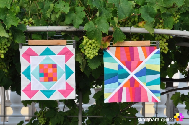 summer sampler 2019 block 1 + 3 - skalabara quilts