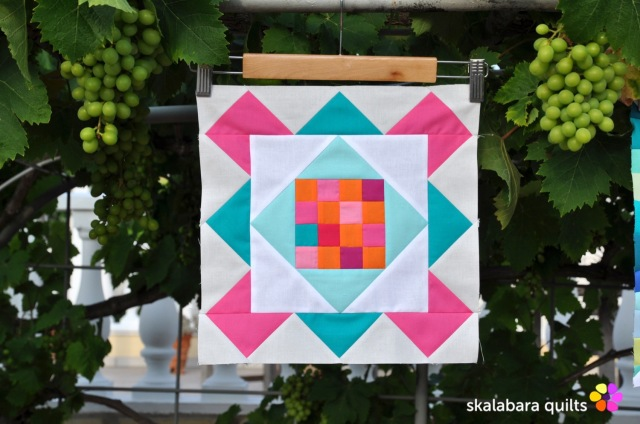 summer sampler 2019 block 1 - skalabara quilts