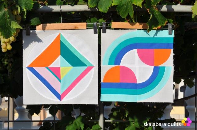 summer sampler 2019 block 11 + 6 - skalabara quilts