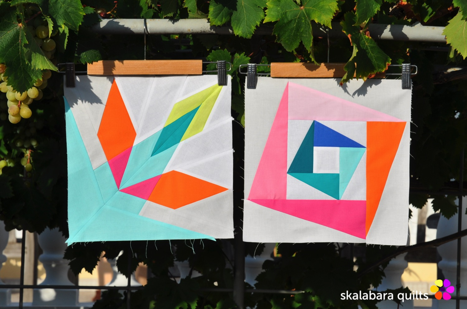 summer sampler 2019 block 7 + 10 - skalabara quilts