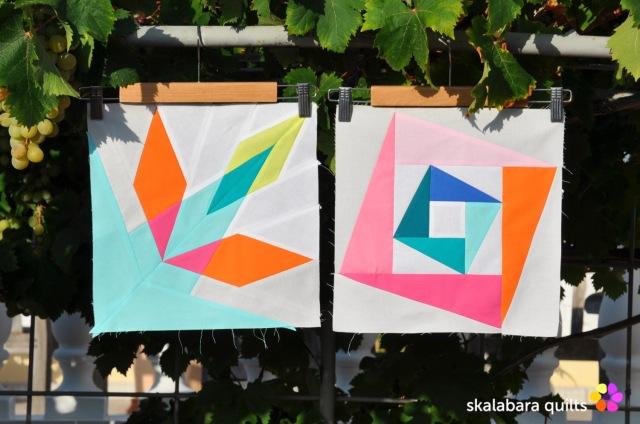 summer sampler 2019 block 7 + 10 - skalabara quilts