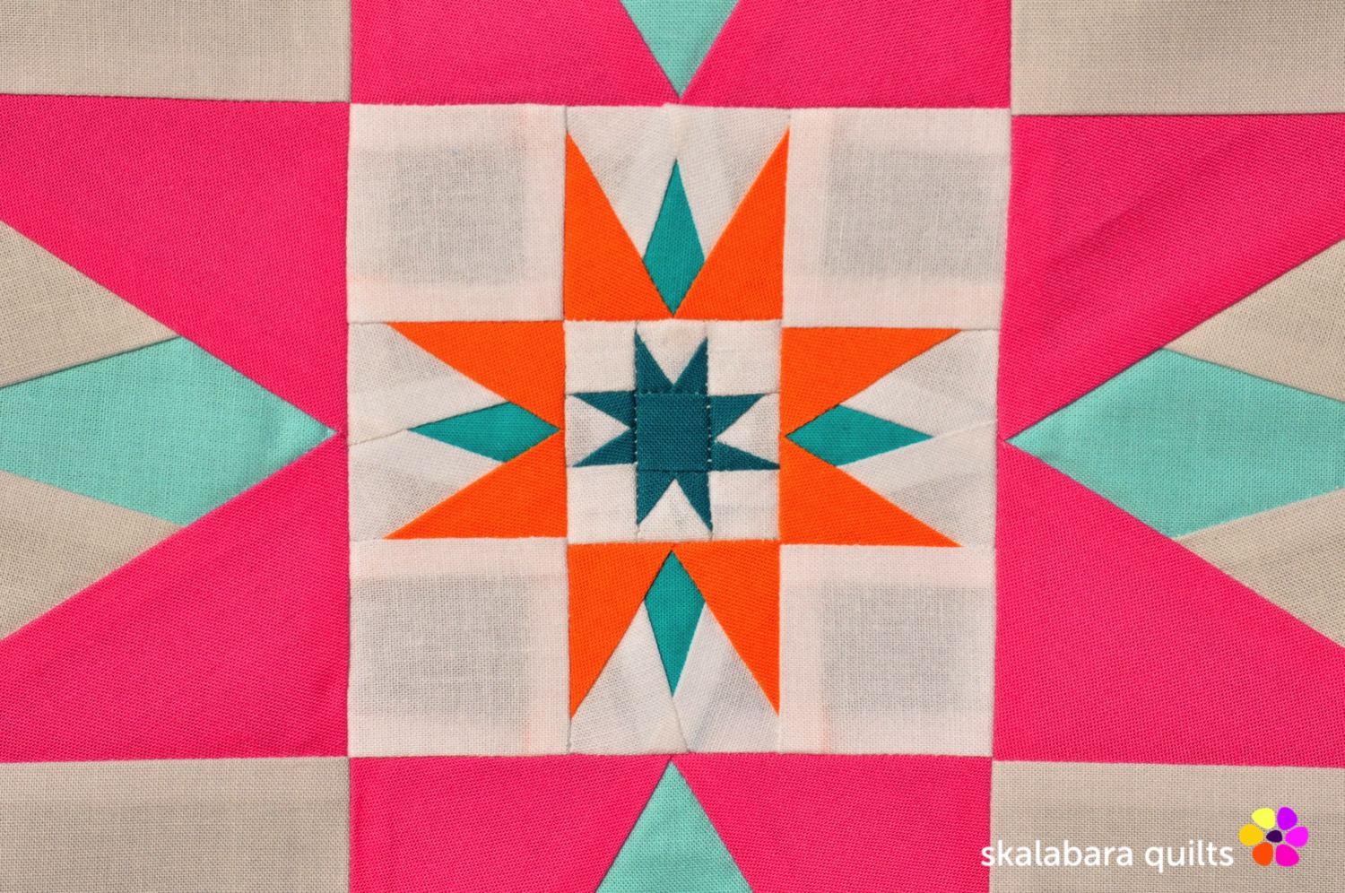 summer sampler 2019 block 8 detail - skalabara quilts