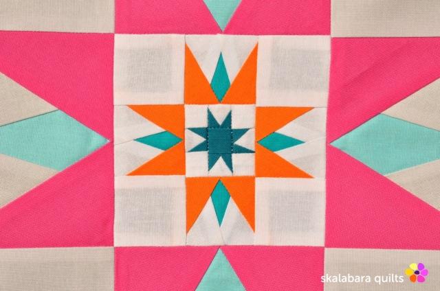 summer sampler 2019 block 8 detail - skalabara quilts