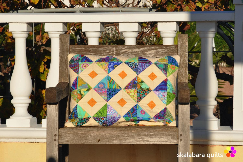cushion cover green - skalabara quilts