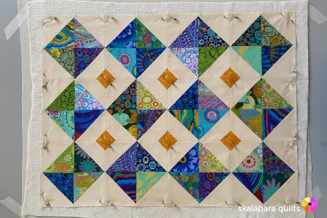 cushion cover blue - skalabara quilts