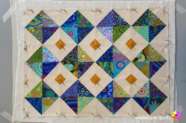 cushion cover blue - skalabara quilts