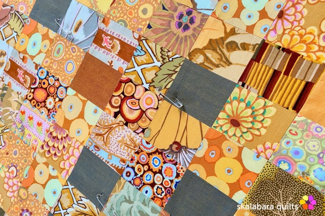 cushion cover orange detail - skalabara quilts