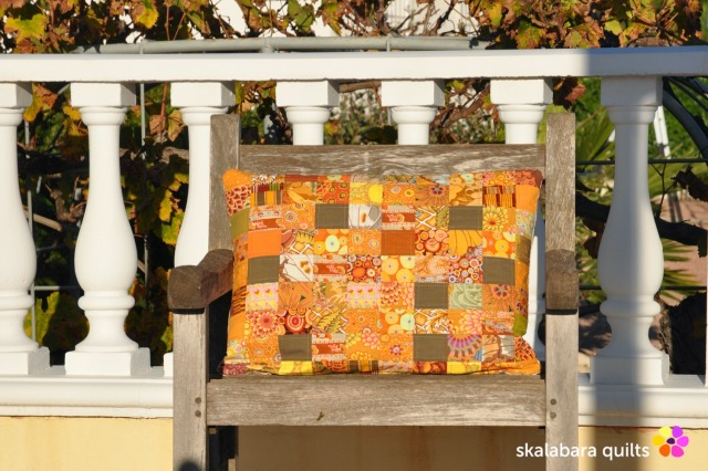 cushion cover orange - skalabara quilts
