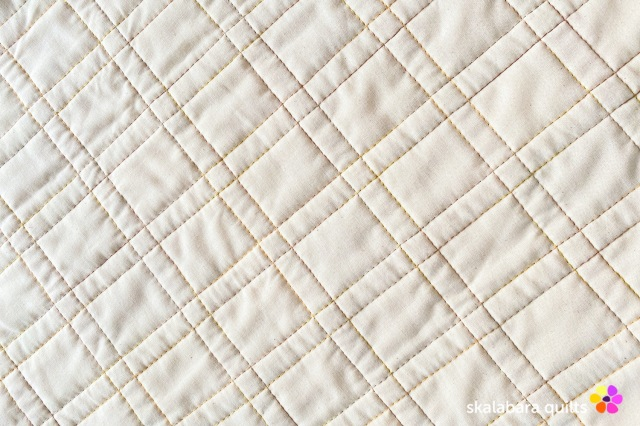 cushion cover orange quilting - skalabara quilts