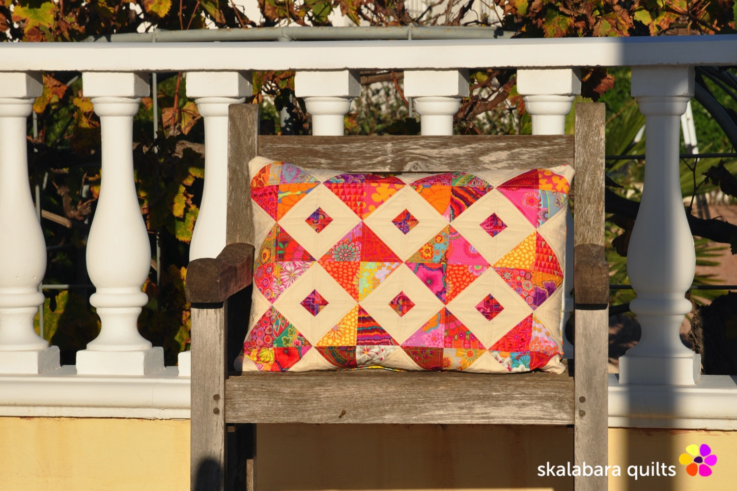 cushion cover red - skalabara quilts